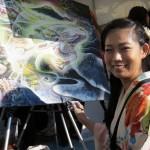 Künstlerin Kodama Kozue - sie war letztes Jahr auch schon dabei