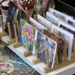 Postkarten mit Gemälden von Kodama Kozue