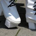 Markantes Schuhwerk beim Japantag in Düsseldorf