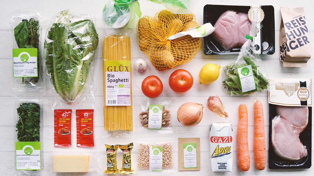 Zutaten - Hellofresh Box